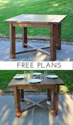 X Base Square Farmhouse Dining Table Build your own X Base Square Farmhouse Dining Table with these simple free plans from Bitterroot DIY. The post X Base Square Farmhouse Dining Table appeared first on Woodworking Diy. Farmhouse Table Plans, Farmhouse Kitchen Tables, Diy Dining Table, Farmhouse Furniture, Furniture Plans, Diy Furniture, Farmhouse Decor, Country Furniture, Woodworking Furniture