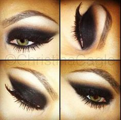 Black eye shadow
