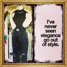 Elegance...Style....Class....Never goes out of style at..My Fairy Godmother's Boutique. We carry a large selection of Vintage & Designer Gowns, Dresses, Shoes, Handbags, Jewelry & Accessories. Located at 6165 Deltona Blvd. Spring Hill, Florida.  352-340-5945. You Shop...We Ship!!