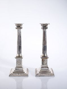 Pair of Candlesticks made from Sheffield Plated silver, around 1770, by Boulton and Fothergill.