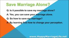 """Save Marriage Alone? - WATCH VIDEO HERE -> http://bestdivorce.solutions/save-marriage-alone    SAVE YOUR MARRIAGE STARTING TODAY (Click for more info…)   ► Save Marriage Alone ► Save marriage for couple ► All the best products """"Save Marriage and Stop Divorce"""" ♥ Save the marriage alone? Q: Is it possible to save my marriage alone? A: Yes, you can save your marriage..."""