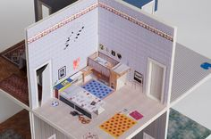Download the template and instructions to build this two story, eight room pop-up house which can be taken apart and folded flat for storage or trips. Two interlocking pop-up cards make out each room, which makes the house sturdy enough for some real play…