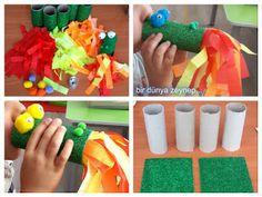 #preschool #okulöncesi #kindergarten #sayılar #sanatetkinliği #kidscraft #ejderha #dragon #artıkmateryal #rulo #paperroll
