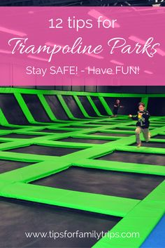 Tips for visiting a trampoline park. Have fun and stay safe! | tipsforfamilytrips.com | indoor trampoline | foam pit | Get Air | Wairhouse | Altitude | Elevation | Big Air