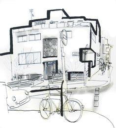 Image of Modernist house on Campden Street, Kensington / Lucinda Rogers