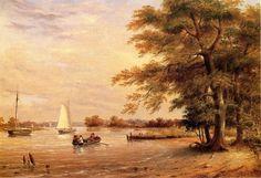 On the Shrewsbury River, Redbank, New Jersey by Thomas Birch