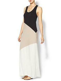Calvin Klein Colorblock Maxi Dress | Piperlime