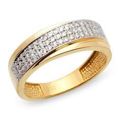 Unique 333er Goldring: Gelbgold Ring mit Zirkonia GR0056