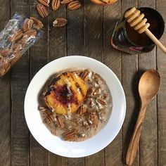 Pecan Butter and cauliflower oatmeal featuring Certified Paleo Purely Pecans   Pecan Butter     #certifiedpaleo #paleovegan