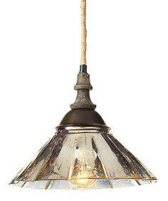 Another great find on #zulily! Fluted Mercury Glass Pendant Light #zulilyfinds