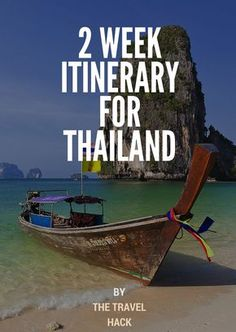 2 week itinerary for Thailand