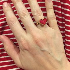 """✨HOST PICK✨. ❤️Red Heart Ring❤️ So cute!  This ring will definitely be noticed as a unique and adorable accessory. Adjustable size. Host Pick """"Girly Girl Party"""" 3/11. T&J Designs Jewelry Rings"""