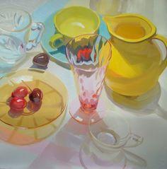 still life – oil on linen – Karen O'Neil, American painter, born 1960.