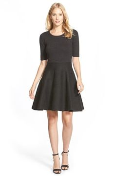 055778d6302 Free shipping and returns on Ivanka Trump Jacquard Knit Fit  amp  Flare  Dress at Nordstrom