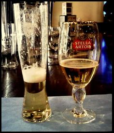 Not all beer glasses are equal.  Even the specially made Stella Artios glass can't compare to the superior crystal of a Spiegelau beer glass.  Get more technical information here - http://www.factorydirect2you.com/spiegelau-beer-classics-tall-pilsner-glass-set-of-two.html #acbw