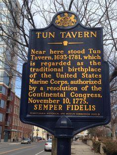 Tun Tavern - Birthplace of the U.S. Marine Corps Semper Fidelis!