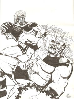 Capitán Marvel vs Thanos