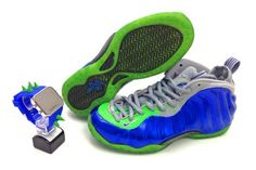 Athletic Shoes Inventive Nike Foamposite Electrolime 2012 Size 10.5