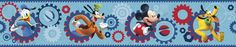 "Walt Disney Kids II Clubhouse Capers 9"" Border Wallpaper"