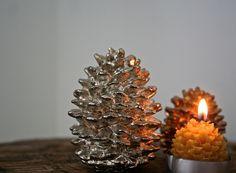 pinecones, vintage and lit by lakbdesign/fergusandme, via Flickr