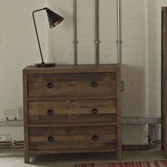 Lifestyle Standford Reclaimed Wood Medium Chest of Drawers - Modish Living Industrial Look