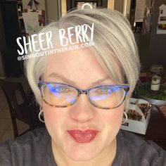 Sheer Berry LipSense by SeneGence is a cool color. You can view it on people, look at combos or comparisons or even in a collage.  However, nothing rivals seeing it on a real person.  Click to purchase yours NOW!  #lipsense #senegence