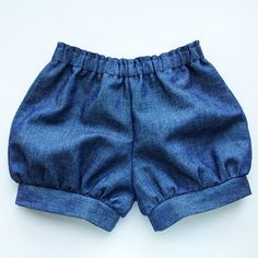The Denim Chambray Meyer shorts, baby shorts, toddler shorts, sailor shorts, bloomers, unisex, hipster baby clothes