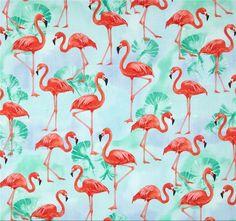 Tela FQ :: water flamingos :: de nosgustanlosretros por DaWanda.com