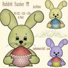 Action - Rabbit Easter III by Rose.li #CUdigitals cudigitals.comcu commercialdigitalscrapscrapbookgraphics