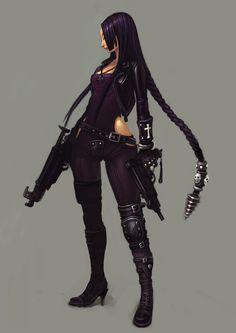 1131x1600_12925_Black_2d_illustration_girl_woman_guns_picture_image_digital_art.jpg (1131×1600)