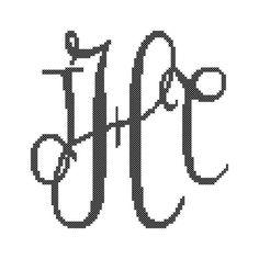 #Monogram #crossstitch #wedding #diy