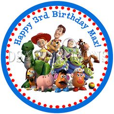 TOY STORY Birthday Party Circles  Gift Tag Gift by Dsacreations, $4.00