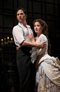 Raoul and Christine | Final Lair | The Phantom of the Opera | Stage Production | Broadway 2013 | Kyle Barisich and Sierra Boggess
