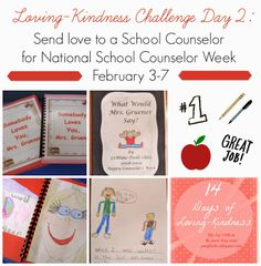 Acts of Kindness for a School Counselor as part of National School Counselor Week by Barbara from The Corner on Character at The Good Long Road