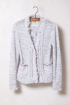 Avoid being a skintern by covering up with this Heathered Fringe Cardi from All Fashion, Passion For Fashion, Fashion Outfits, Womens Fashion, Style Me, Cool Style, Anthropologie Clothing, Fringe Cardigan, Sweater Outfits