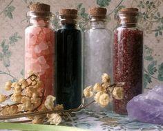 Salt Set of 4  DIY Incense Herbal Alchemy Wiccan by AsAboveAlchemy