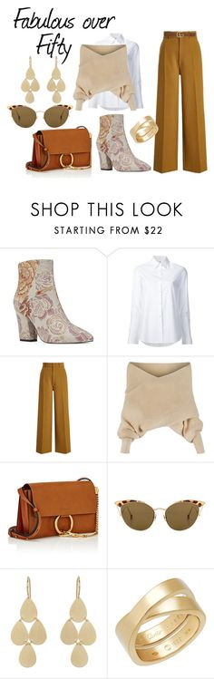 """Fabulous over 50"" by marionduffield ❤ liked on Polyvore featuring Nine West, Misha Nonoo, Joseph, WithChic, Chloé, Ahlem, Irene Neuwirth, Cartier and Gucci"