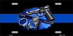 Thin Blue Line - Novelty Metal License Plate