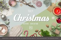 Christmas Scene Creator by The Beacon Collection on @creativemarket
