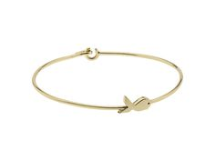 The solid gold Orca Whale bangle with the message 'Always By Your Side'