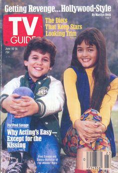 TV Guide, June 10, 1989 — Fred Savage & Danica McKellar in The Wonder Years