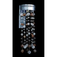 Allegri Rubens 1 Light Wall Bracket in Chrome with Firenze Clear Crystals 11146-010-FR001