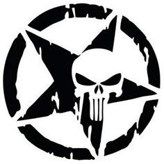 Amazon YOUNGFLY 13 X CM Punisher Star Skull Sticker Truck Reflective Pentagram