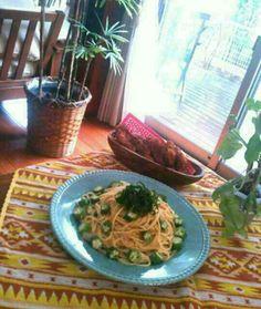 くららさんのオクラのパスタ、やっぱり美味しかった☆⌒(*^∇゜)v 夏休みの宿題に追われる娘も、美味しいって食べてたよ゜゜゜-y(^。^)。o0 - 130件のもぐもぐ - klalaさんの旦那絶賛な我が家のおくらスパゲティ⭐ by kaminata