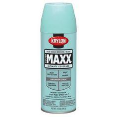 "Krylon Blue Ocean Breeze Gloss CoverMaxx -Scarlet""s room match"