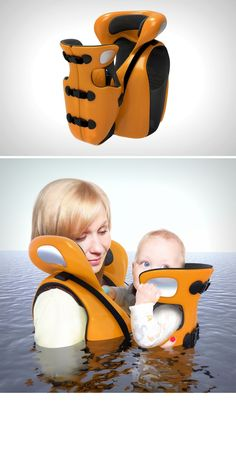 The Connect integrates the mother and child into one single life jacket. Read More: http://www.yankodesign.com/2016/11/21/the-life-life-jacket/