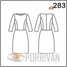 c4b0e3309c2 Выкройка платья в духе 50-х годов с рукавами 3 4