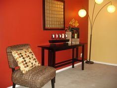Accent Wall Red Warm Tones Bat Painting Tips