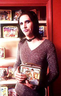 Marilyn Manson with his Lunchbox collection :)