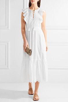Ulla Johnson | Vera ruffled broderie anglaise cotton midi dress | NET-A-PORTER.COM